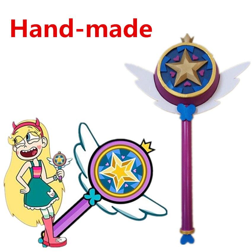 Star vs les Forces du mal princesse baguette magique bâton main Cosplay Prop
