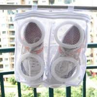 1pcs Nylon Laundry Bag Shoe Wash Bag Shoes Trainer Sports Sneaker Tennis Boots Shoes Laundry Mesh Washing Bag Storage Organizer