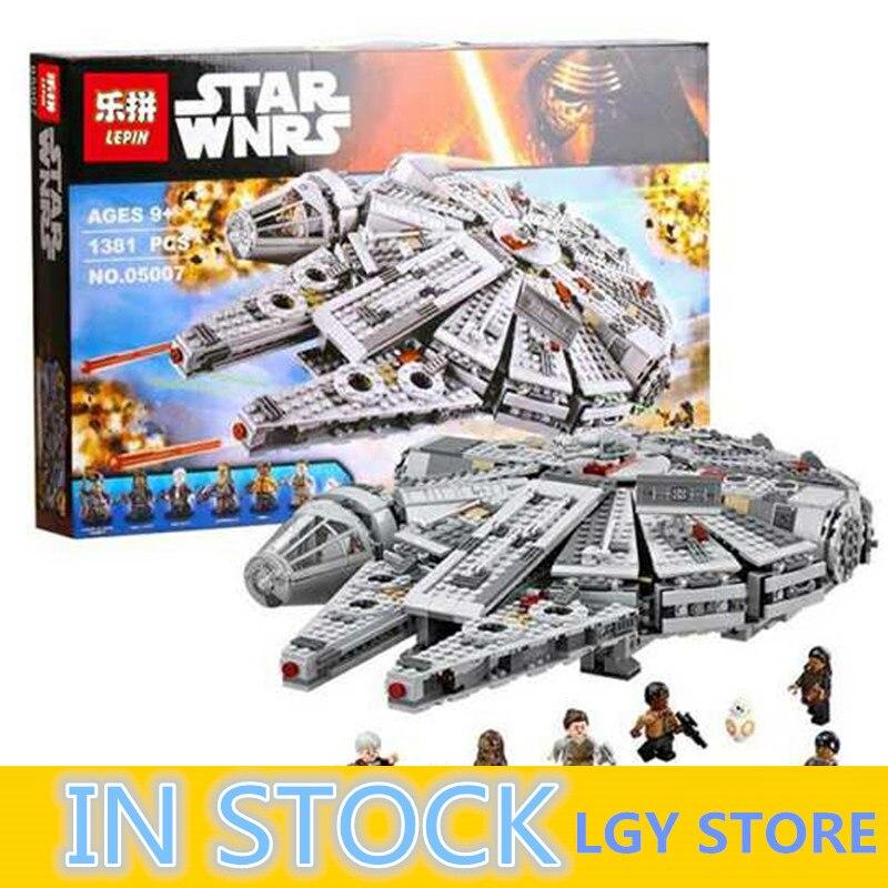 LEPIN 05007 Blocs de Construction Brique Enfants Jouet Éveille Millennium Falcon Modèle Compatible 10467 Noël Cadeaux