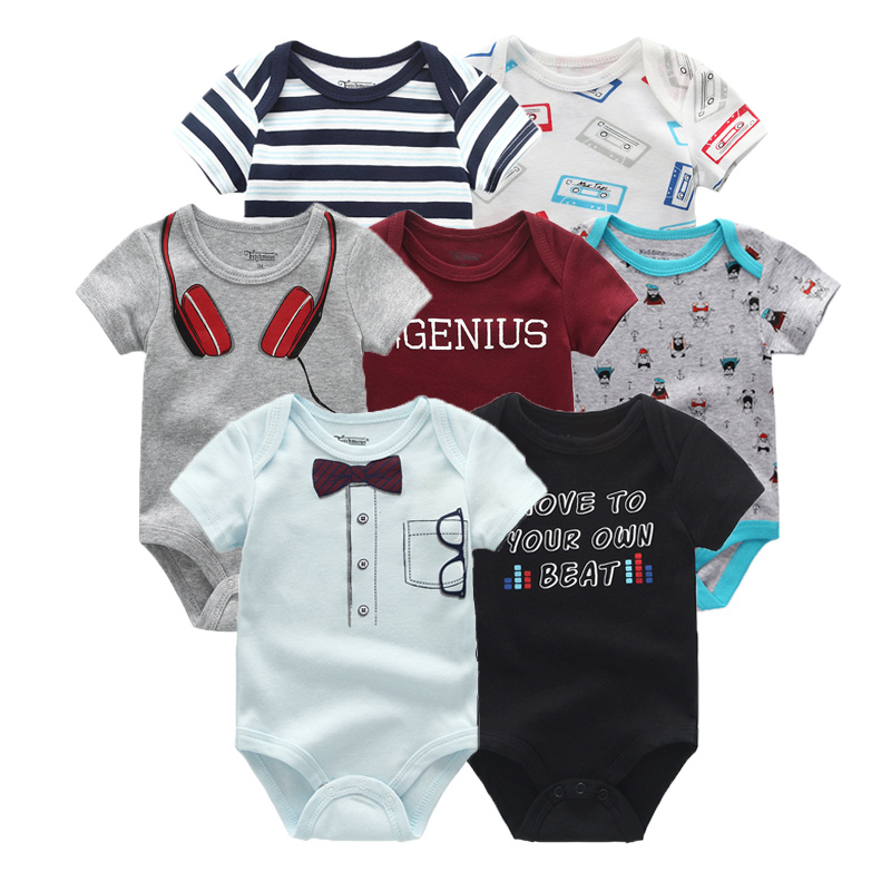 7Pcs/Lot Newborn Baby Rompers Clothing Sets Cotton Baby Jumpsuits Roupa De Bebe Baby Boy Girl Clothes