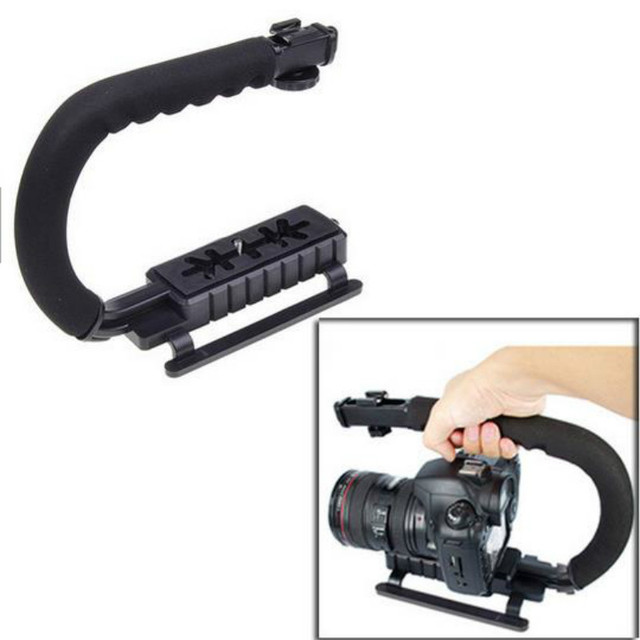 U Grip Triple Shoe Mount Video Actie Dslr Camera Grip Video Camcorder Stabiliserende Handvat Fotografie Selfie Stick Voor Camera