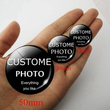 1PCS Personalized Custom Photo Cabochon Glass Diy 25mm 30mm 50mm Jewelry Gifts for Birthday