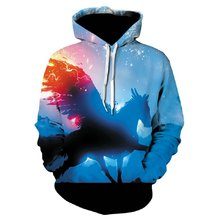 Devin Du New Fashion Wolf Hoodies Men/women 3d Sweatshirts Print Thin Hoody Hooded Tracksuits Tops drop ship