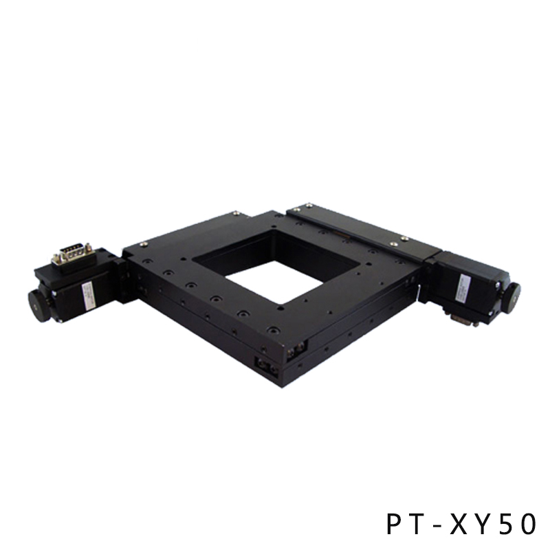 PT-XY50 XY Motorized Microscope Stage, Electric XY Integral Combinating Platform, 50mm Travel jing de microscope platform two way mobile platform xy travel 40mm 100 100 micro focus mobile phase