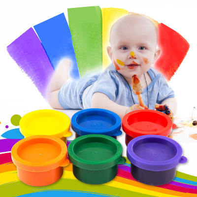 Children Educational Painting Drawing Toys Finger Painting Tool Birthday Gifts Mud Painting Different Colors Finger 6Pcs/Set