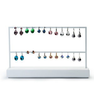 Image 3 - FANXI Jewelry Display Rack White Metal Earrings Necklace Display Holder Jewelry Organizer Expositor Jewelry Display Stand