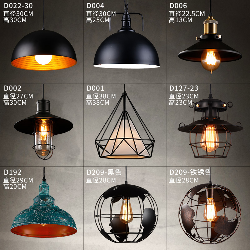 Industrial wind loft personality creative  clothing shop retro nostalgia restaurant wrought iron single head chandelier american retro nostalgia industrial loft style cafe restaurant bar wrought iron chandelier antique pot bedroom single head lamp