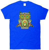 Short Sleeve 100 Cotton Man Tee Tops T Shirt Trippy Owl T Shirt Classy Classic T