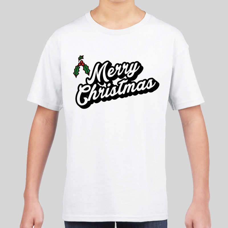 Kids Boys Girls Novelty Christmas Xmas T-shirt Top Festive Gift Movie Merry Men T Shirt Print Cotton Short Sleeve T-shirt