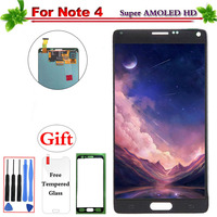 5.7 Super AMOLED for Samsung Galaxy Note 4 LCD Display Touch Screen Digitizer Assembly for Galaxy Note 4 N910 N910C N910A N910F