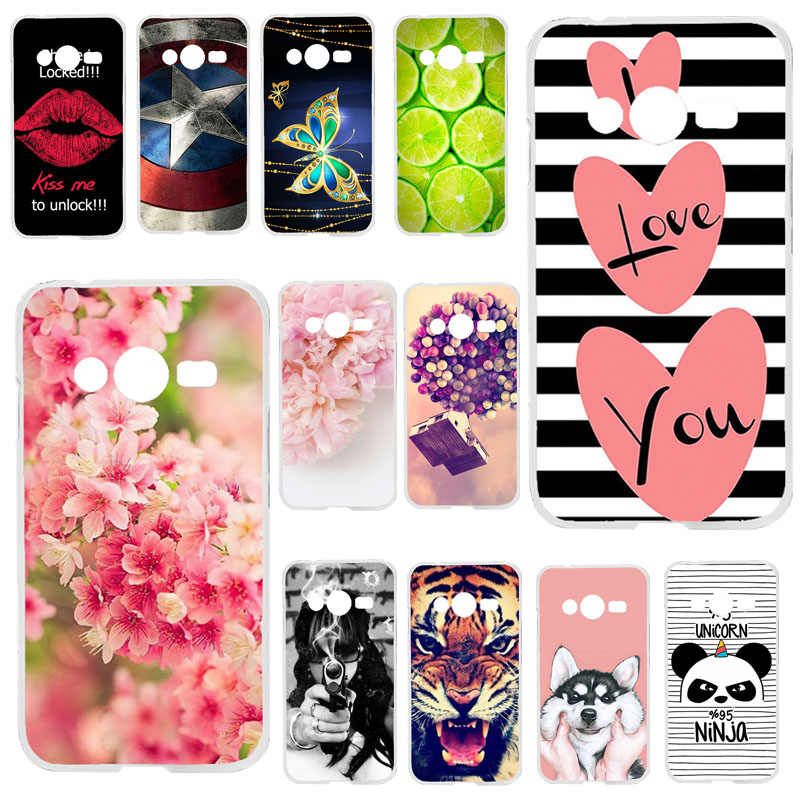TAOYUNXI Soft TPU Phone Cases For Samsung Galaxy ACE 4 NXT G313 G318H 4.0 inch Trend 2 Lite G313H Ace 4 Lite Covers Bags Bumper