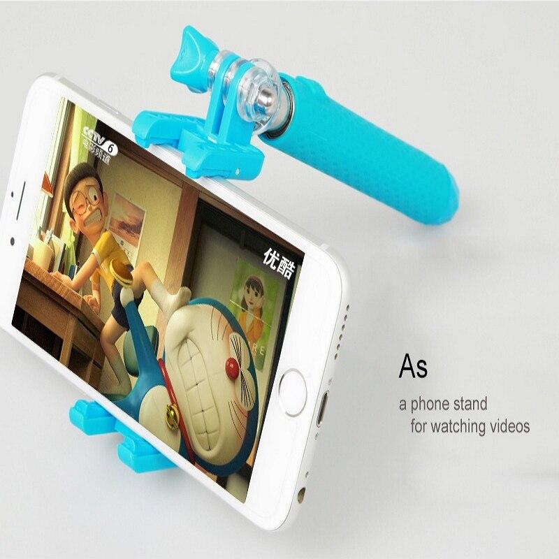 Universele Mini Handheld Monopod Bedrade Selfie Stick Uitschuifbare - Camera en foto - Foto 5