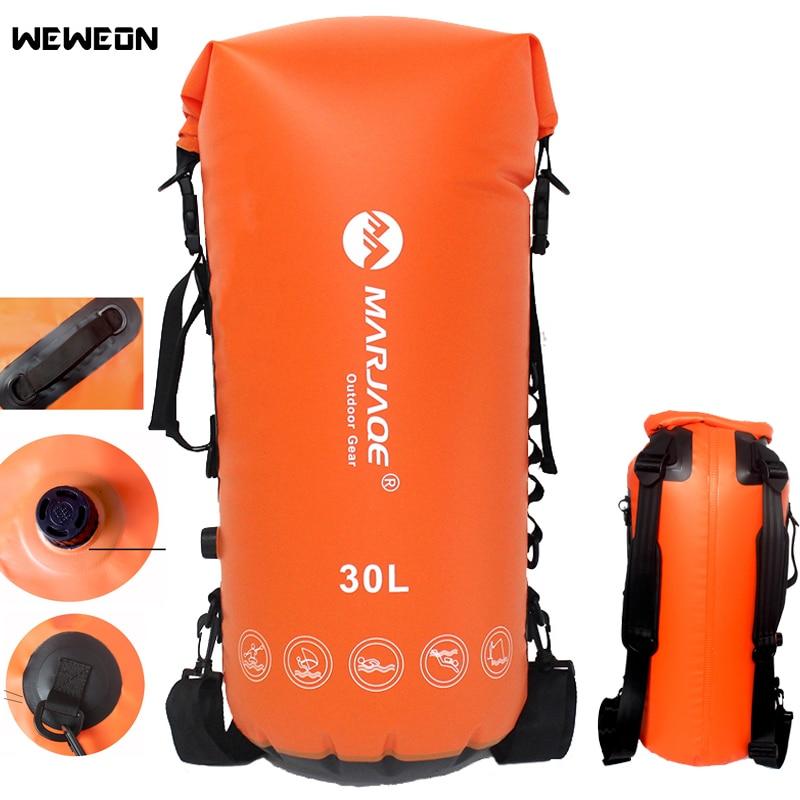 Sac de sac sec de stockage extérieur de sacs de natation imperméables de 30L avec le PVC scellé pour le sac à dos portatif de natation de Rafting de Trekking de plongée