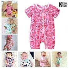 2019 Summer New Style Short Sleeved Girls Dress Baby Romper Cotton Newborn Body Suit Pajama Boys Zipper Rompers