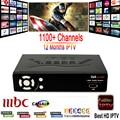1 Año IP-S2 plus Smart Tv Caja IPTV 1150 + Canales Europa italia árabe IPTV Box Soporte DVB-S2 Receptor de Satélite HD Lleno 1080 P