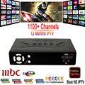 1 Ano 1150 + Canais de IPTV IP-S2 plus Caixa Smart Tv Europa Caixa de IPTV arábica itália Apoio DVB-S2 Receptor de Satélite Full HD 1080 P