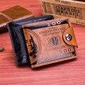 Магнитная застежка 100 долларов шаблон мужской кошелек Мода Деньги высокого класса личность клип ПУ Бесплатная доставка