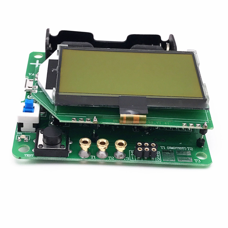 M328 Multi-functional Chargeable LCD Display Transistor Tester Diode Capacitance Inductor ESR LCR Meter with USB Interface