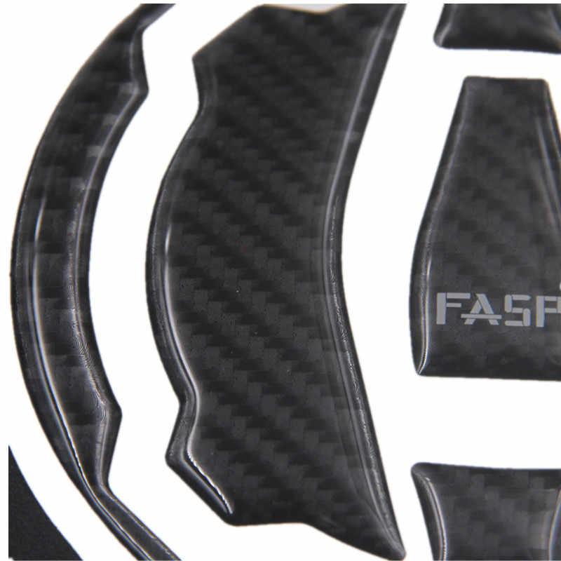 Serat Karbon Tangki Bahan Bakar Minyak Pad Gas Cap Penutup Stiker Pelindung Sepeda Motor Stiker Pad untuk Kawasaki Z650 Z900 Versys X300 ninja650