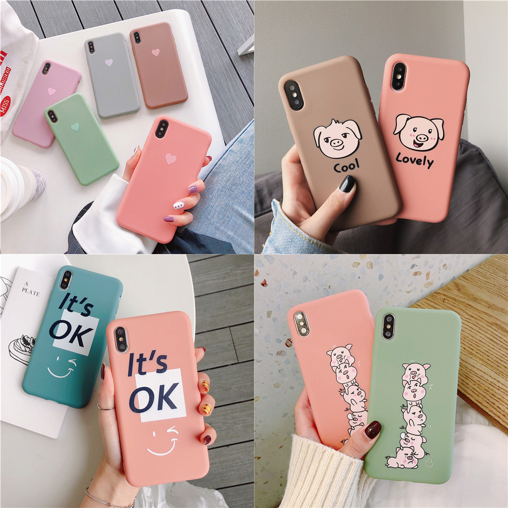 JeKacci Cartoon Case For Huawei P20 Lite Case Candy Silicone Phone Case For Huawei P30 Pro Mate20 Mate10 P10 Honor10 Nova4 Nova3