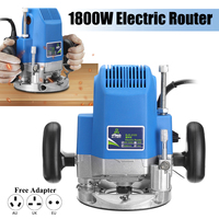 1800W 1/4 inch Electric Trimmer 220V Electric Wood Router 23000RPM Woodworking Trimming Router Folding e dge Carving Power Tools