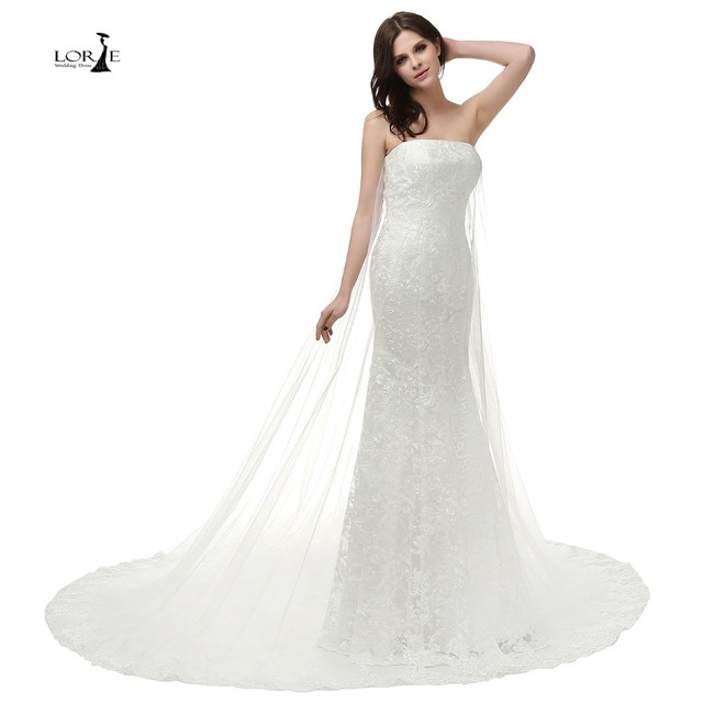 Lorie High Quality Cheap Lace Mermaid Wedding Dresses 2017 Strapless Wedding Party Dress Bridal Gown Newest Coming In Wedding Dresses From Weddings