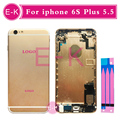 DHL 10pcs/lot For IPhone 6S Plus 5.5'' Back Cover Battery Full Housing Assembly with Sim Card Tray + Buttons + Flex Cables