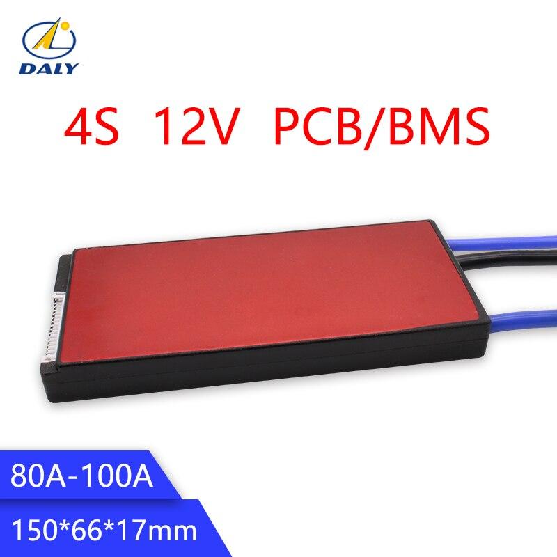 Дейли 12 В LiFePO4 BMS 4S 80A/100A Батарея защиты и управления 18650 Зарядное устройство PCB BMS для буровых двигателей 16,8 В стандарт/повышения/баланс