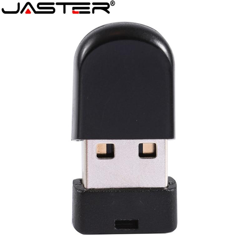 JASTER USB 2.08GB 16GB 32GB Super Mini Black Flash Drive Stick Pen Drive Usb Stick Small U Disk Best Gift