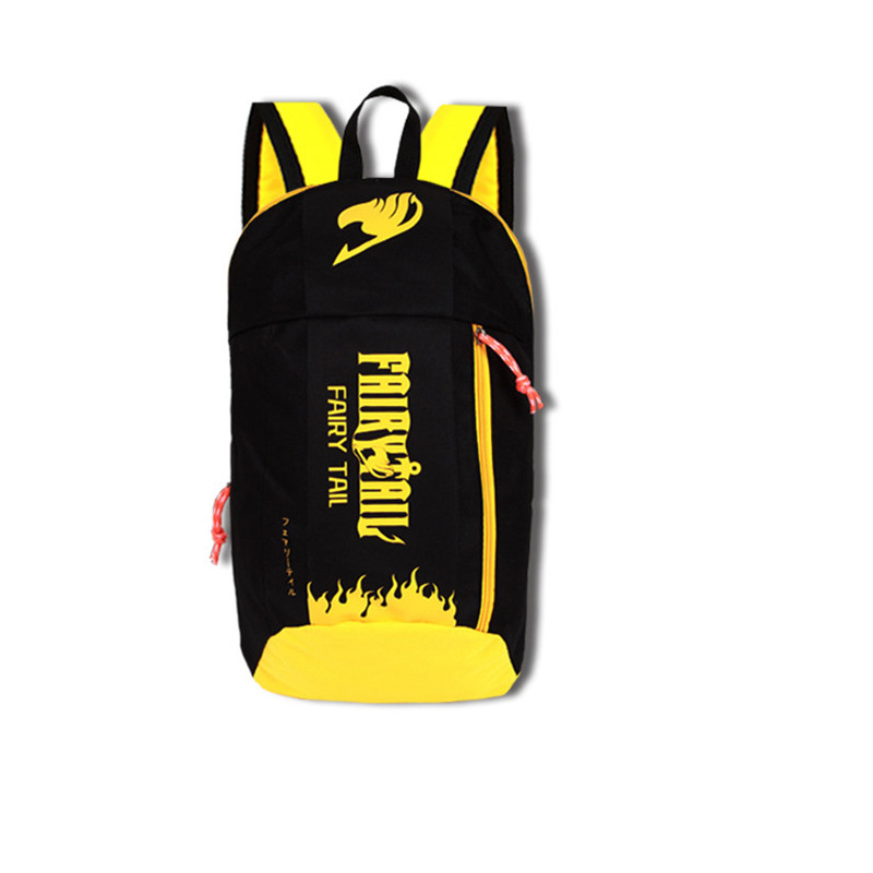 New Japan Anime Light weight Fairy Tale Yellow Black Backpack School Shoulder Book Bag Boys Girls Gift Travel