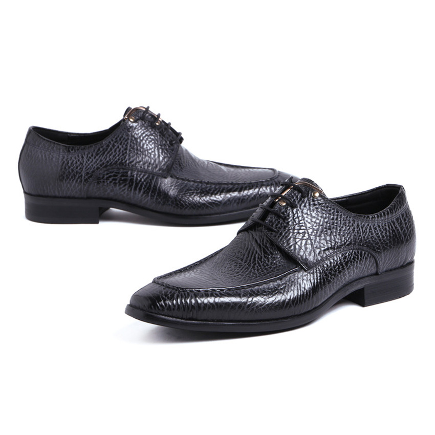 Vintage up Formal Sapatos Ymx425 Genuíno Dos Chegada Derby Festa Nova azul De Do Vestido Italiano Dedo Homem Da Lace Casamento Preto Calçados Homens Couro Apontado vnWna7
