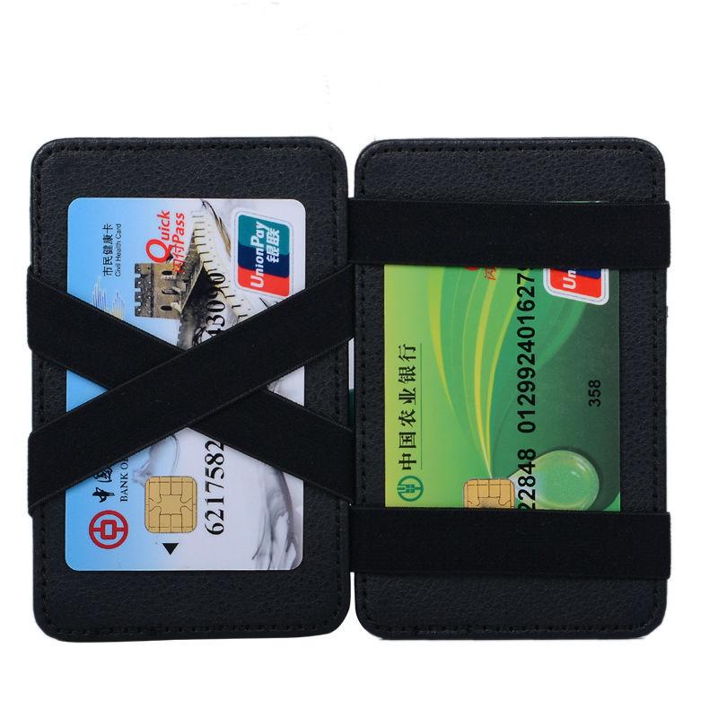 New Style Money Clip Magic Wallet Card Holder Kreditkortskal med - Plånböcker - Foto 3