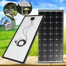 100W Solar Panel 18V 100W Solar Charger For Car Battery 12V Battery Charger Monocrystalline Cells Module