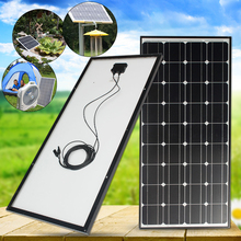 100W Solar Panel 18V 100W Solar Charger For Car Battery 12V Battery Charger Monocrystalline Cells Module Kit