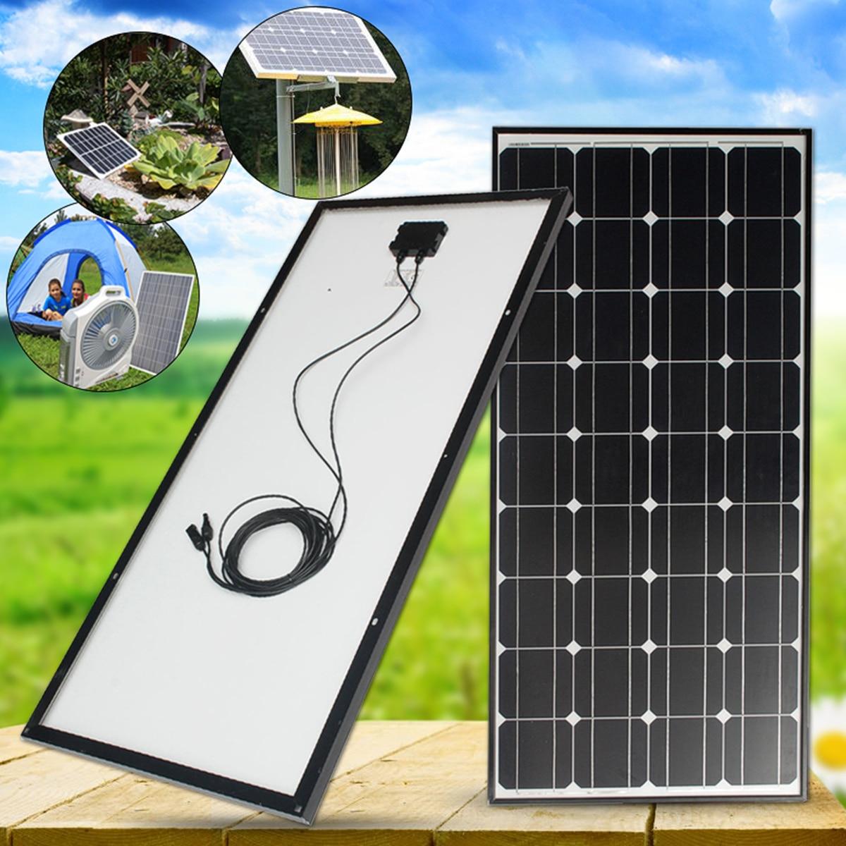 100W Solar Panel 18V 100W Solar Charger For Car Battery 12V Battery Charger Monocrystalline Cells Module Kit