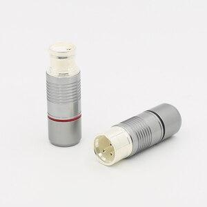 Image 2 - 4 قطعة مرحبا نهاية الفضة مطلي النحاس الذكور الإناث XLR موصل الصوت XLR التوازن موصل قابس ل hifi التوصيل