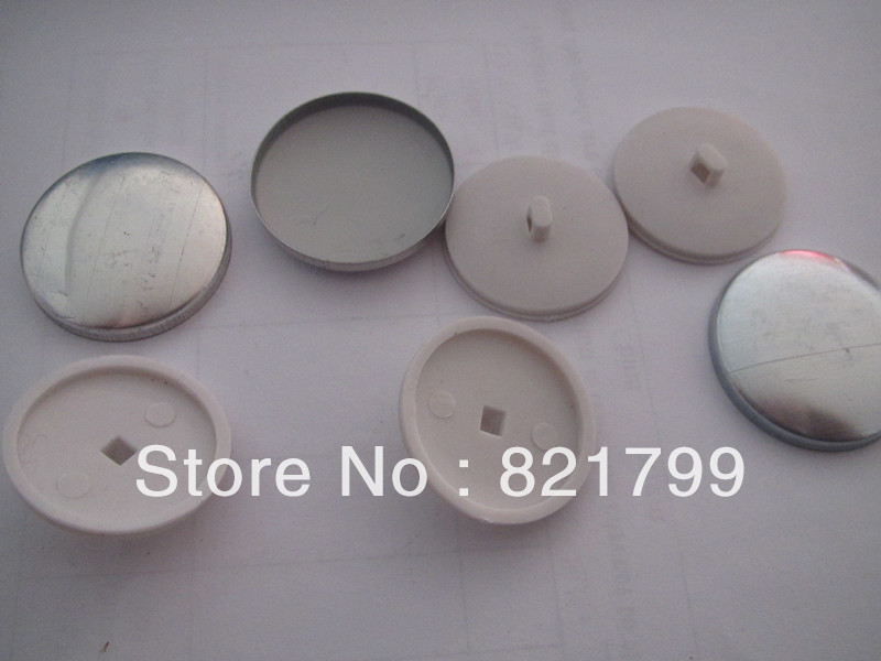 DIY 30L cloth button back  plastic shank  fabric  cover button cloth button