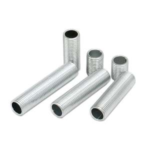 Nipple-Joint Lighting-Accessories Threaded-Tube Metal M10 Zinc for DIY 10pieces Screw-Pipe