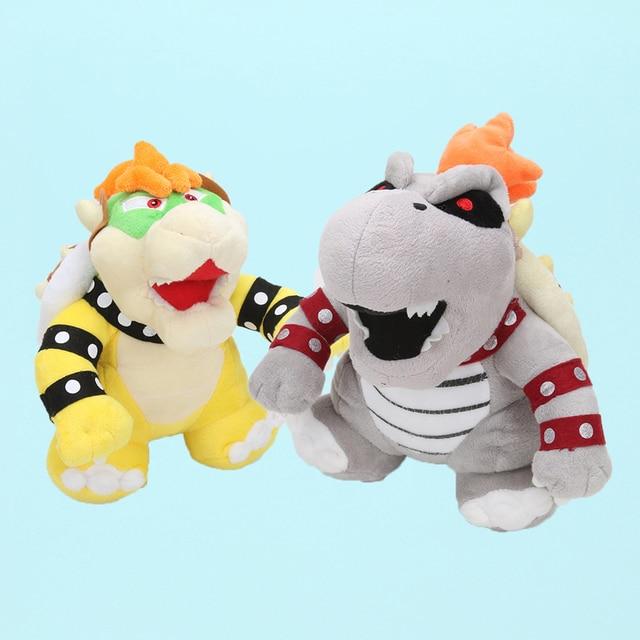 2 pçs/lote Bros Super Mario Land 3D Osso Kuba dragão Bolster desenhos animados Ossos Secos de pelúcia Bowser Koopa Sanei stuffed Plush dolls brinquedo