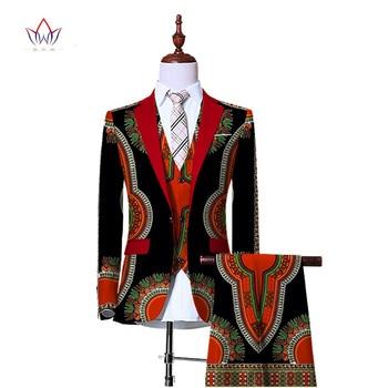 (Jacket+Vest+Pants)Blazers for Men 3 Piece Slim Fit Cowboy Wedding Men Suit Retro Gentleman Mens' African Clothing 6XL WYN230 1