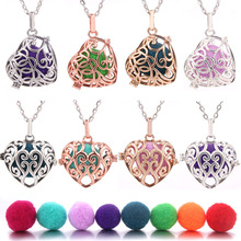 Heart Mexico Chime Music Ball Caller Locket Necklace Vintage Pregnancy Necklace for Aromatherapy Essential Oil Pregnant Women mexico chime music bell angel ball caller locket necklace flower pregnancy necklace perfume aromatherapy essential oil necklace