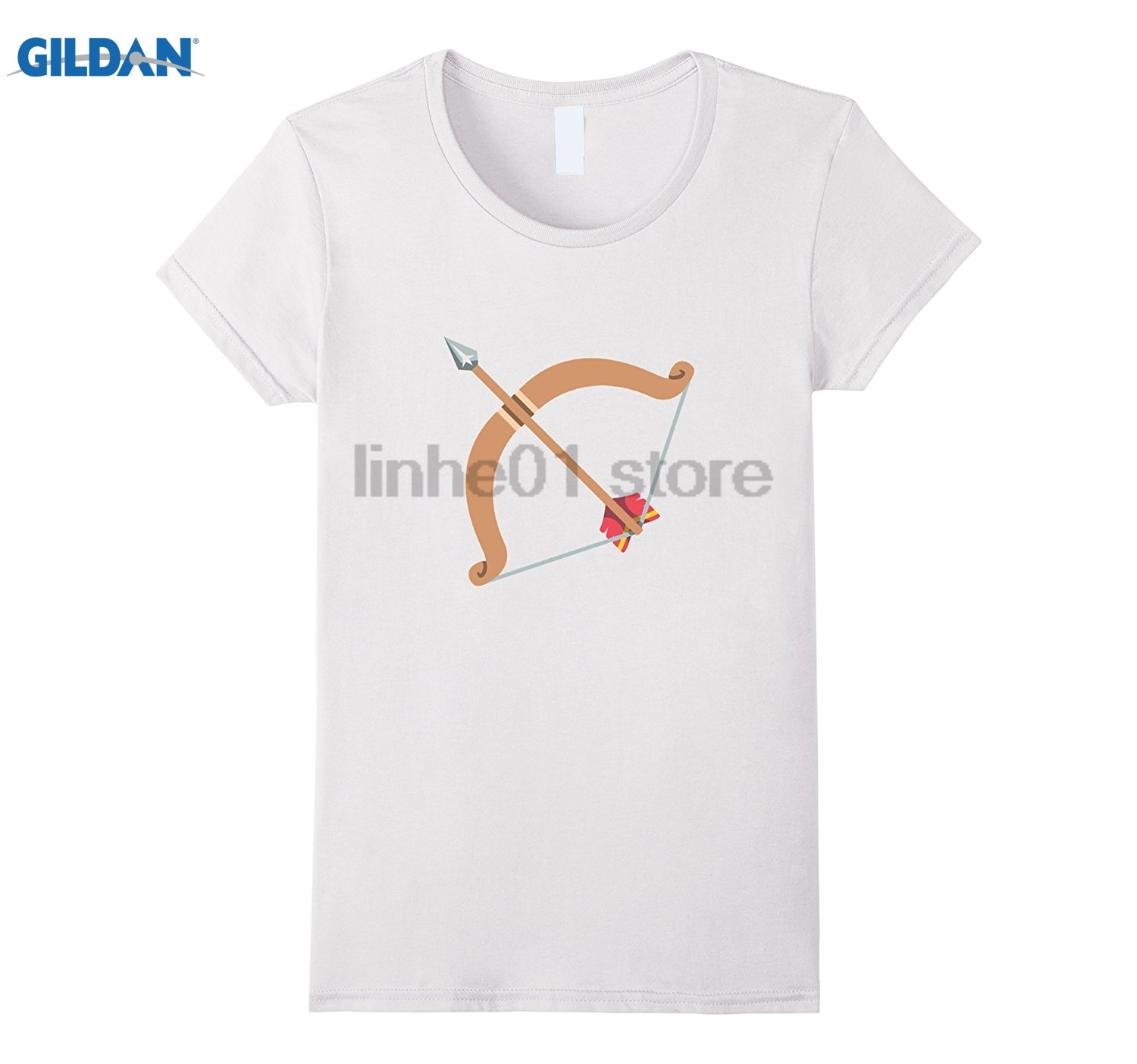 GILDAN Bow and Arrow Emoji T-Shirt Crossbow Archery Target Rifelry Dress female T-shirt