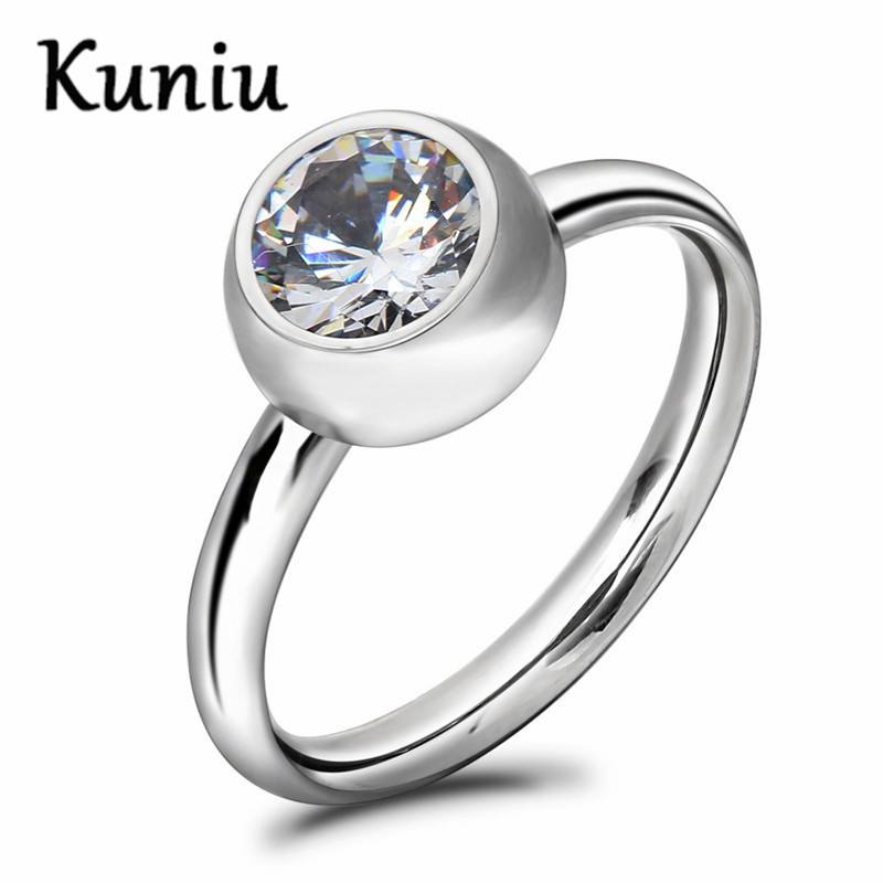 New arrival Can removable crystal CZ ring for womens stainless steel engagement rings Dropshipping
