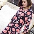 Mulher conjunto de pijama de algodão