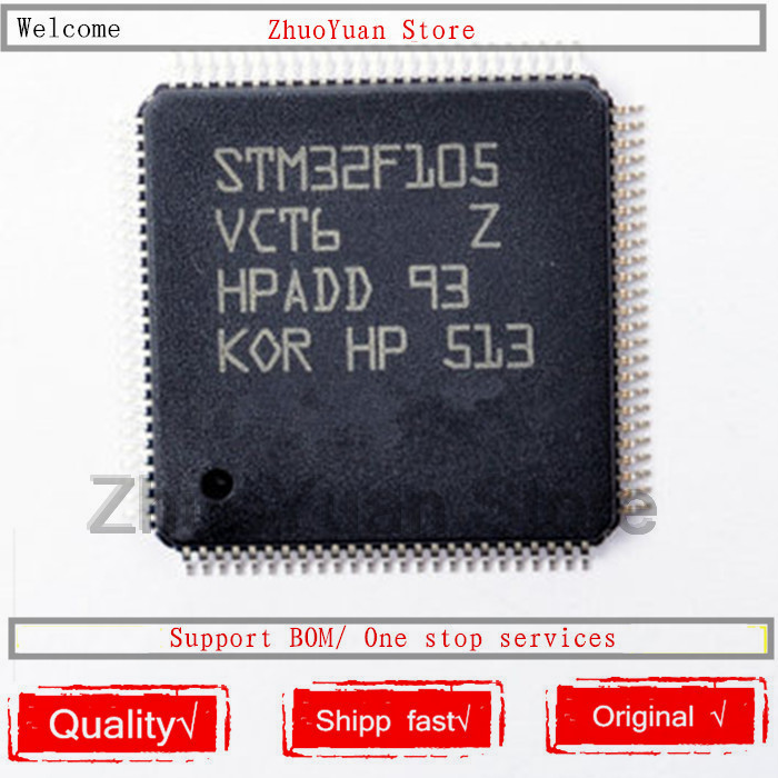 1PCS/lot STM32F105VCT6 STM32F105 LQFP-100 IC Chip New Original In Stock