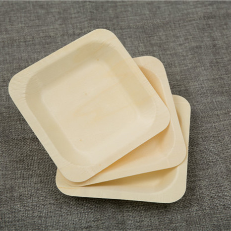 100x Disposable Wooden Plate Cake Dessert Dish Environmentally Friendly  Biodegradable Wild Outdoor Dining Wholesale 14cm(