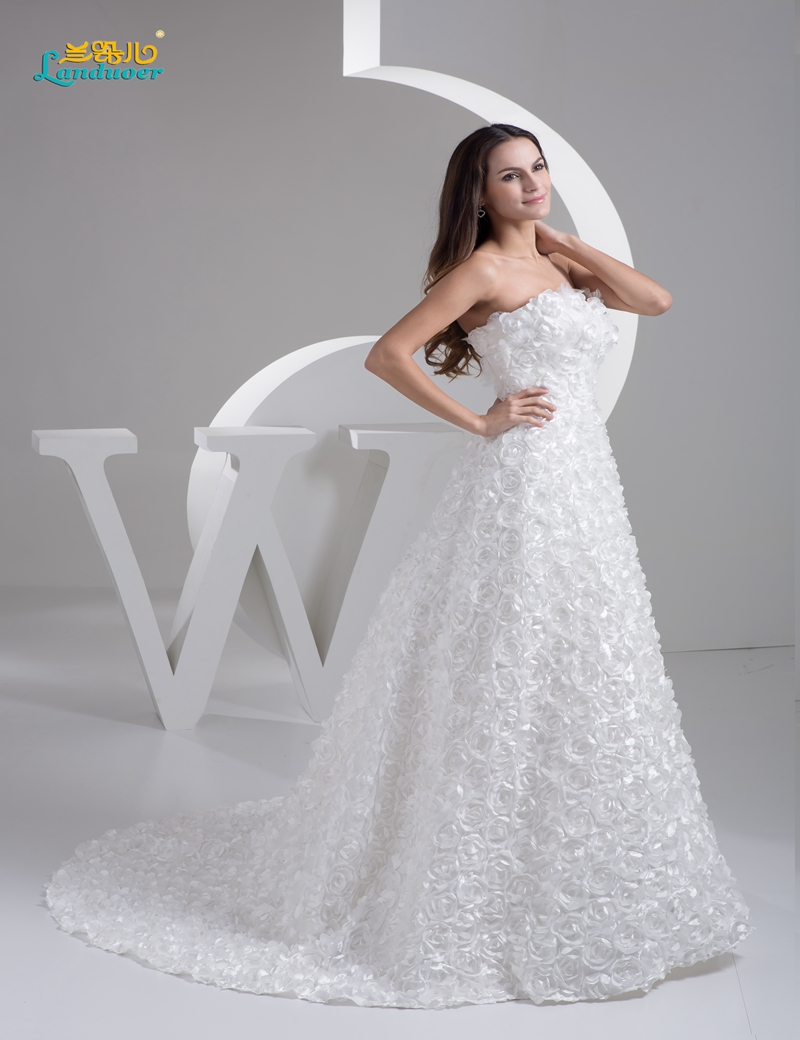 Simple Rose Wedding Dresses
