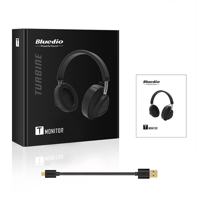 Bluedio TM wireless bluetooth headphone with microphone monitor studio headset for music and phones support voice control 5