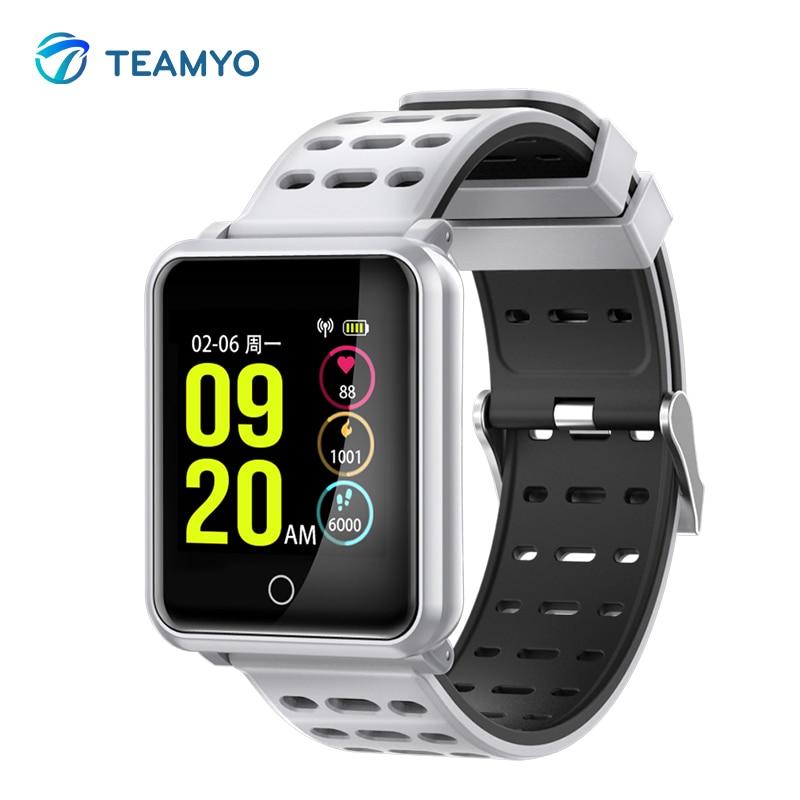 Teamyo Smart wristband Waterproof IP 68 blood pressure watch Fitness bracelet Sport Smartwatch Heart Rate Monitor Color Screen