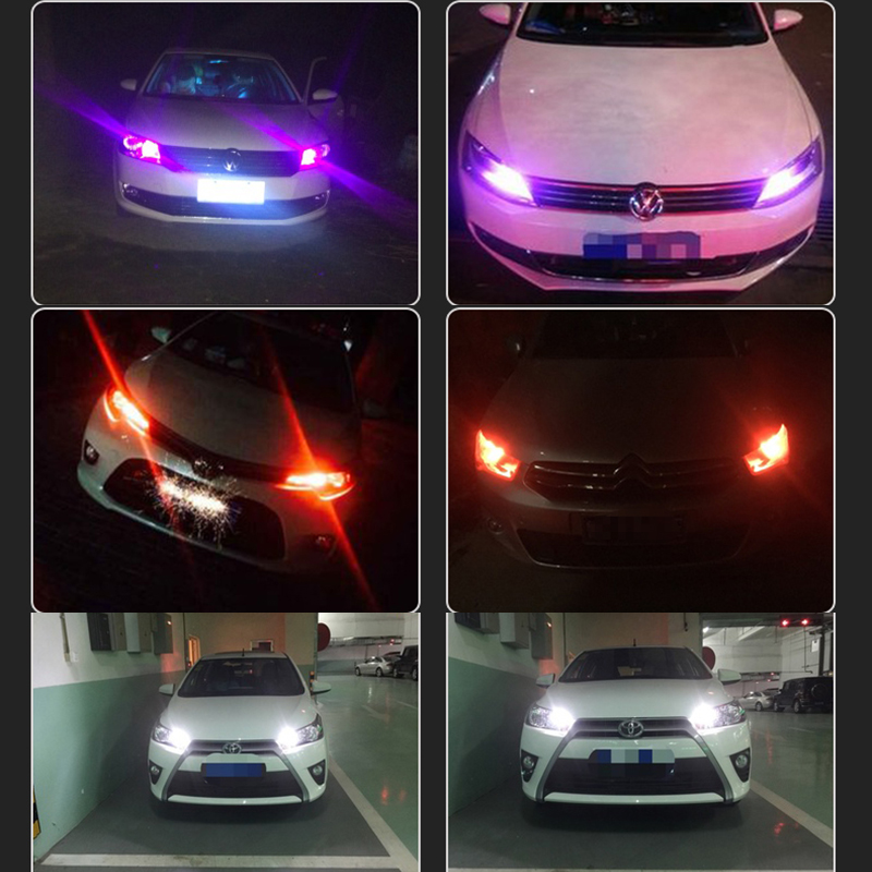 2pcs Canbus Error Free Car T10 W5W 196 LED 3014 Paking Side Wedge/Reading/License Plate/Door Light Lamp White/Red/Ice Blue
